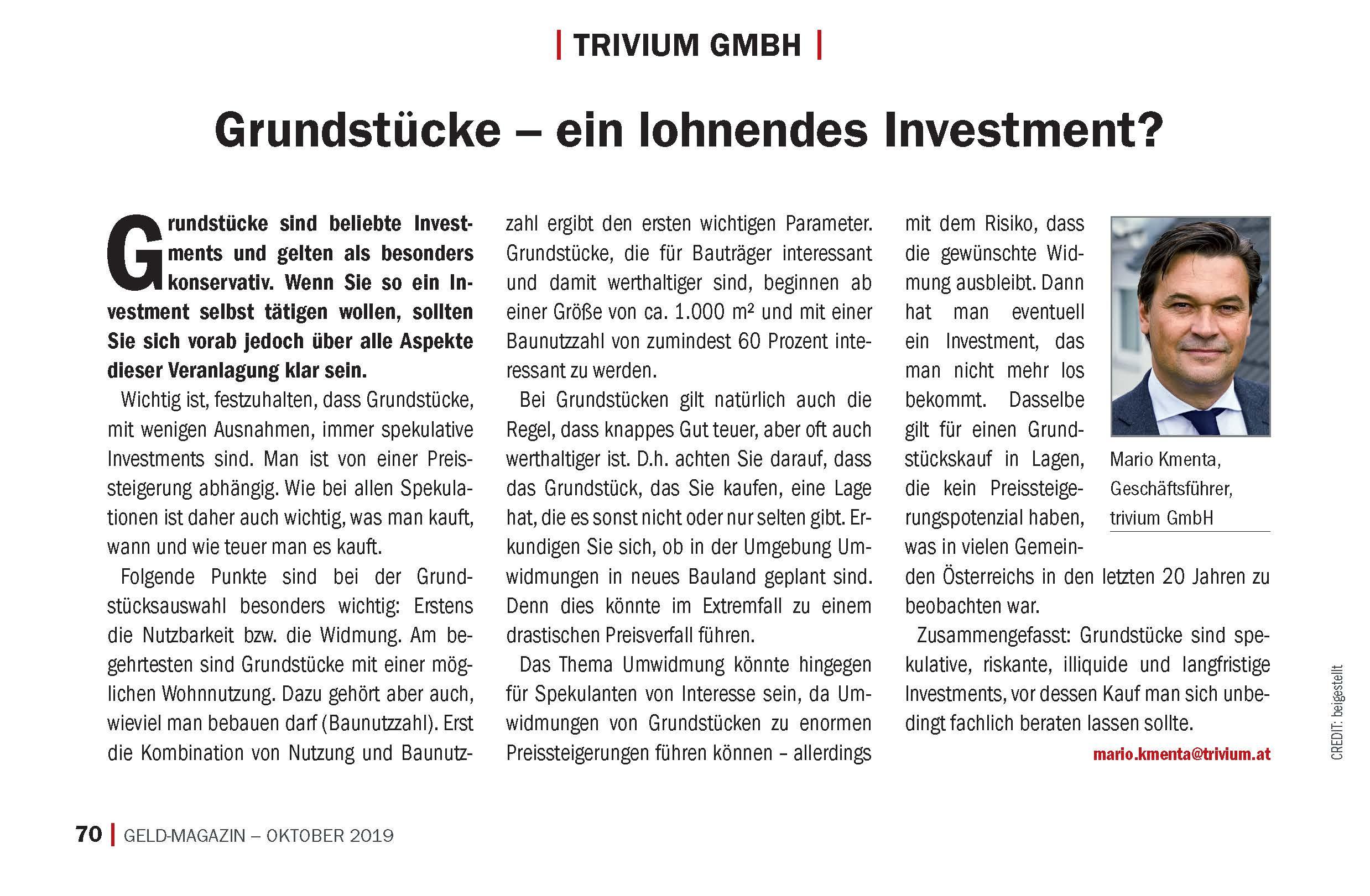 """""""Grundstücke – ein lohnendes Investment?"""""""